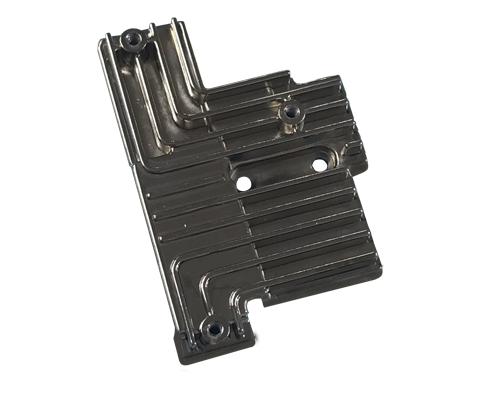 Die-casting part with shiny electroplating surface treatment - Heat Sink